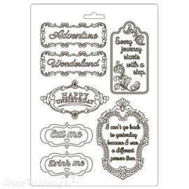 Moule souple Alice in Wonderland plates Stamperia A5