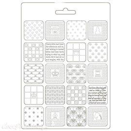 Moule souple Alice patchwork Stamperia A5