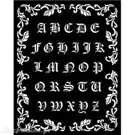 Pochoir Sleeping Beauty alphabet
