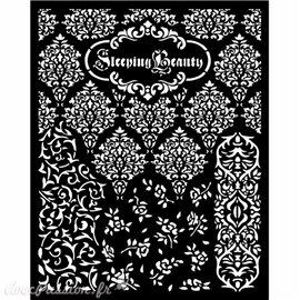 Pochoir Sleeping Beauty textures Stamperia 20x25cm