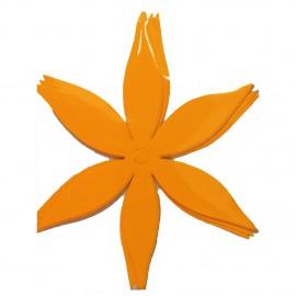 Laser die cut scrapbooking Karen marie Clip fleur jaune
