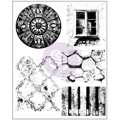 Tampon transparent Cling Stamps Old Town 15x19cm