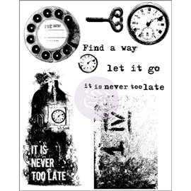 Tampon transparent Cling Stamps Never too late 15x19cm