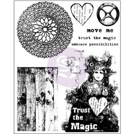 Tampon transparent Cling Stamps Trust the magic 15x19cm