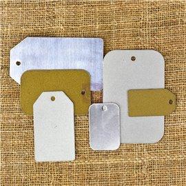 Embellissements métal Metal tags Finnabair Prima 6pièces