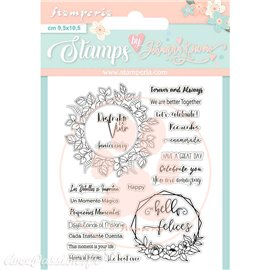 Tampon clear Celebration quotes 14x18cm Stamperia