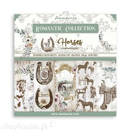 Bloc Papier scrapbooking Stamperia Romantic Horses 20x20