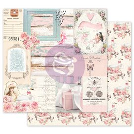 Papier scrapbooking Prima With Love All of the pretty things avec dorure 30x30cm