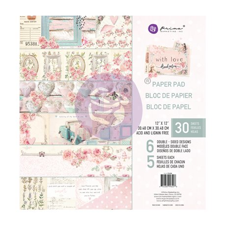 Papier Scrapbooking With Love Collection 30x30cm assortiment