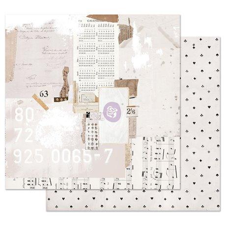 Papier scrapbooking Prima Pretty Pale Recounting the Days 30x30cm