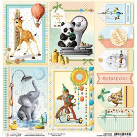 Feuille scrapbooking Ciao Bella My First Year Cards 30x30 double face