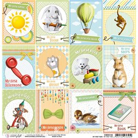 Feuille scrapbooking Ciao Bella My First Time 30x30 double face