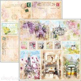 Feuille scrapbooking Ciao Bella Notre Vie Cards 30x30 double face
