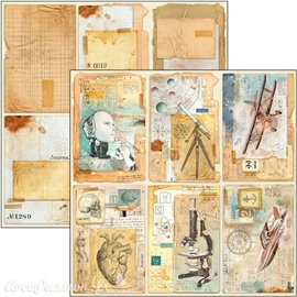 Feuille scrapbooking Ciao Bella Sign of the Times Cards 30x30 double face