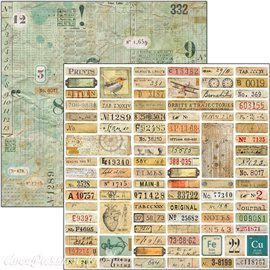 Feuille scrapbooking Ciao Bella Sign of the Times Labels 30x30 double face