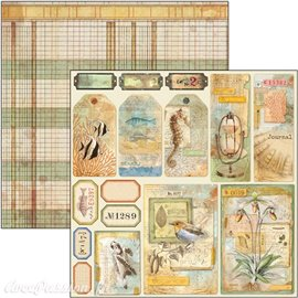 Feuille scrapbooking Ciao Bella Sign of the Times Tags & Frames 30x30 double face
