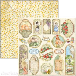 Feuille scrapbooking Ciao Bella Aesop's Fables Cards 30x30 double face