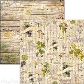 Feuille scrapbooking Ciao Bella Grapes and Mushrooms 30x30 double face