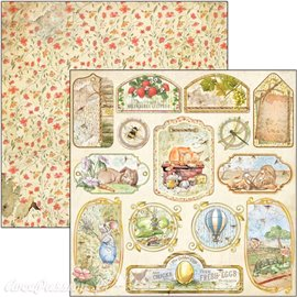 Feuille scrapbooking Ciao Bella Aesop's Fables Tags & Frames 30x30 double face