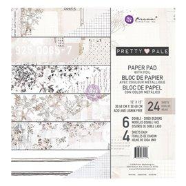 Papier Scrapbooking Pretty Pale Collection 30x30cm assortiment