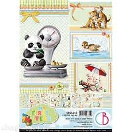 Papier scrapbooking Ciao Bella My First Year Creative 9fe A4 assortiment