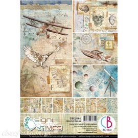 Papier scrapbooking Ciao Bella Sign of the Times 9fe A4 assortiment