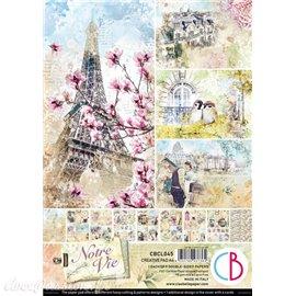 Papier scrapbooking Ciao Bella Notre Vie Creative 9fe A4 assortiment