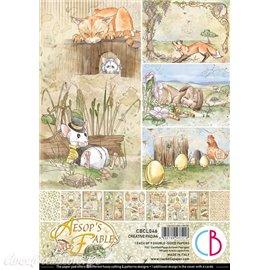Papier scrapbooking Ciao Bella Aesop's Fables 9fe A4 assortiment