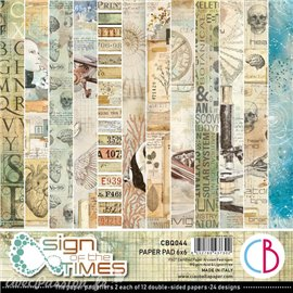 Papier scrapbooking Ciao Bella Sign of the Times 12fe 15x15 assortiment