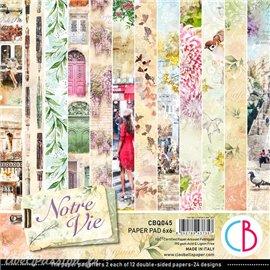 Papier scrapbooking Ciao Bella Notre Vie 12fe 15x15 assortiment