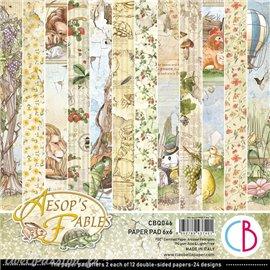 Papier scrapbooking Ciao Bella Aesop's Fables 12fe 15x15 assortiment