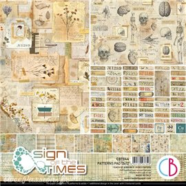 Papier scrapbooking Ciao Bella Sign of the Times 8fe 30x30 assortiment