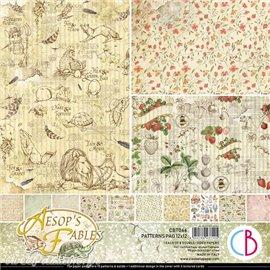 Papier scrapbooking Ciao Bella Aesop's Fables 8fe 30x30 assortiment