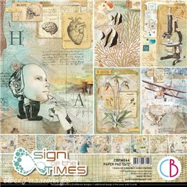 Papier scrapbooking Ciao Bella Sign of the Times 12fe 30x30 assortiment