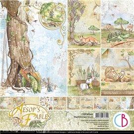 Papier scrapbooking Ciao Bella Aesop's Fables 12fe 30x30 assortiment