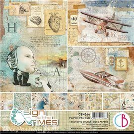 Papier scrapbooking Ciao Bella Sign of the Times 20x20 12fe assortiment