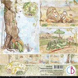 Papier scrapbooking Ciao Bella Aesop's Fables 20x20 12fe assortiment