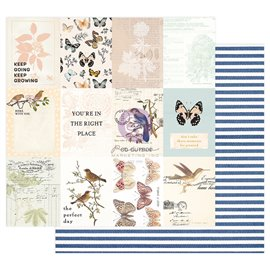 Papier scrapbooking Prima Nature Lover The Perfect Day 30x30cm