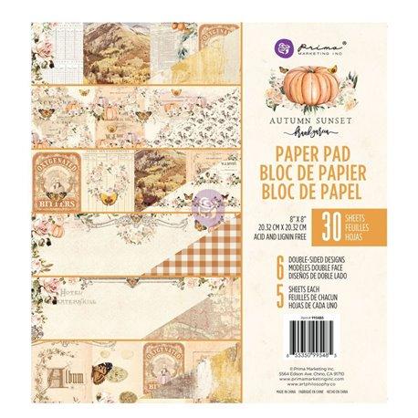 Papier Scrapbooking Autumn Sunset Collection 20x20cm assortiment