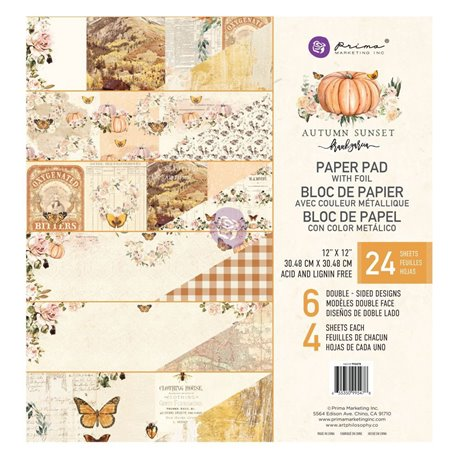 Papier Scrapbooking Autumn Sunset Collection 30x30cm assortiment