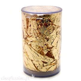 Copeaux de feuilles de cuivre or jaune 2 gr