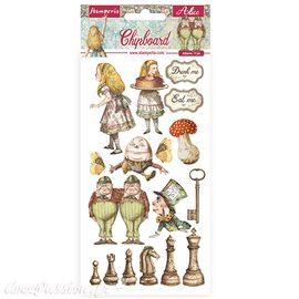Chipboard carton Alice through the looking glass Stamperia 15x30 cm