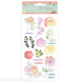 Chipboard carton Celebration fleurs Stamperia 15x30 cm