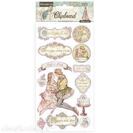Chipboard carton Sleeping Beauty Stamperia 15x30 cm