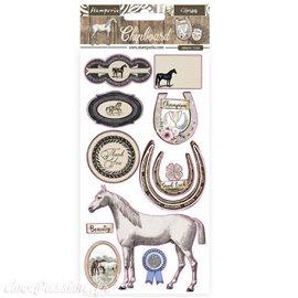 Chipboard carton Romantic Horses Stamperia 15x30 cm