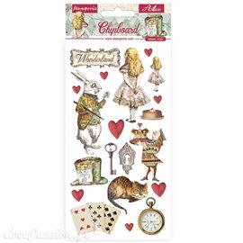Chipboard carton Alice in Wonderland Stamperia 15x30 cm