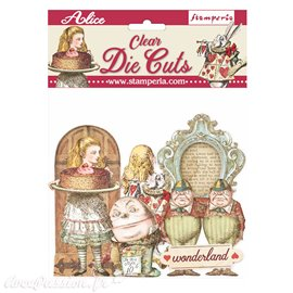 Die Cuts Clear Alice through the looking glass Stamperia