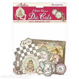 Die Cuts Clear Alice Charms Stamperia
