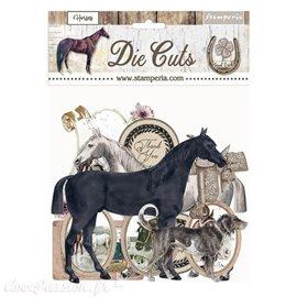 Die Cuts assortiment Romantic Horses Stamperia