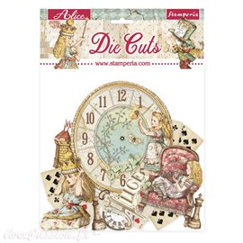 Die Cuts assortiment Alice through the looking glass Stamperia